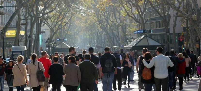 Höstpromenad genom Barcelona