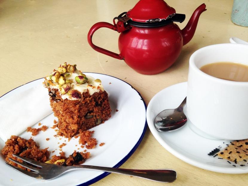 Te och morotskaka