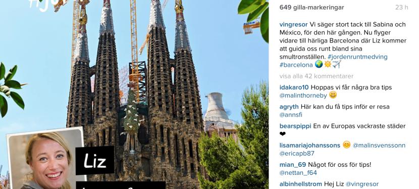 Instagrammar för Ving
