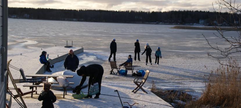 Vinterfika på isen