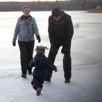Värmande kramar på hal is