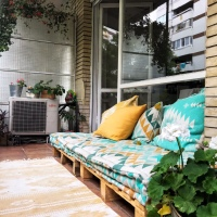 Balkongen - min lilla, lilla gröna oas